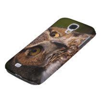 Great Horned Owl, Bubo virginianus Samsung Galaxy S4 Case