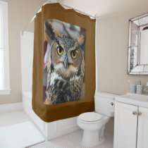Great Horned Owl (Bubo virginianus) Shower Curtain