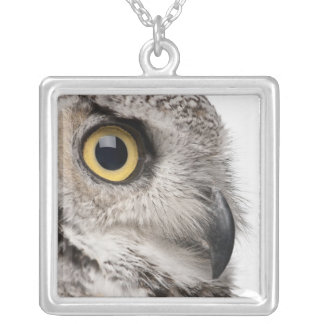 Great Horned Owl - Bubo Virginianus Subarcticus Silver Plated Necklace