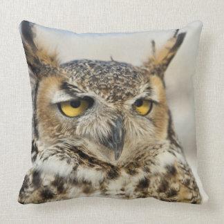 Great Horned Owl (Bubo virginianus) Throw Pillow