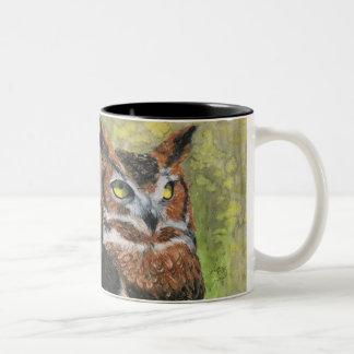 Great Horned Owl (Bubo virginianus) Two-Tone Coffee Mug