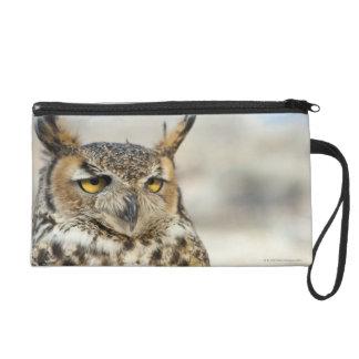 Great Horned Owl (Bubo virginianus) Wristlet Purses