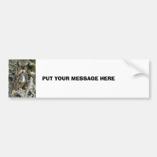 Great Horned Owl Bumper Sticker Car Bumper Sticker