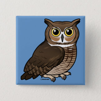 Great Horned Owl Button