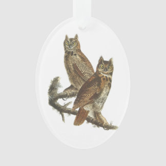 Great Horned Owl by Audubon Ornament