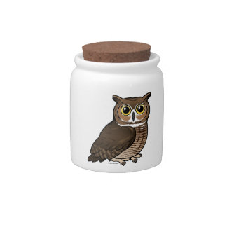 Great Horned Owl Candy Dishes