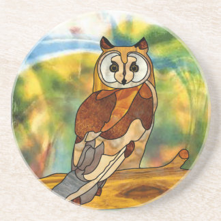 Great Horned Owl Drink Coasters
