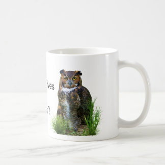 Great Horned Owl Customizable Coffee Mug