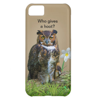 Great Horned Owl Customizable Cover For iPhone 5C