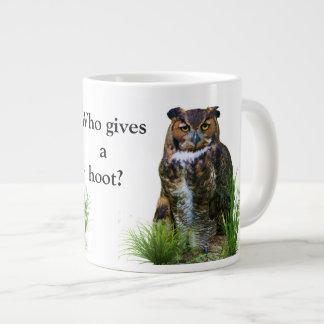 Great Horned Owl Customizable Giant Coffee Mug