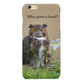 Great Horned Owl Customizable Glossy iPhone 6 Plus Case