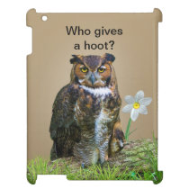 Great Horned Owl Customizable iPad Cover