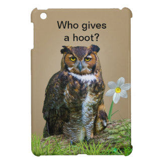 Great Horned Owl Customizable iPad Mini Cover