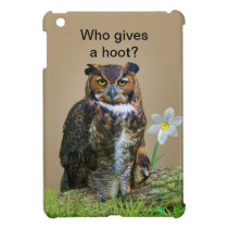 Great Horned Owl Customizable iPad Mini Cover