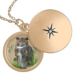 Great Horned Owl Customizable Locket Necklace