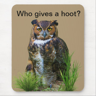 Great Horned Owl Customizable Mouse Pad