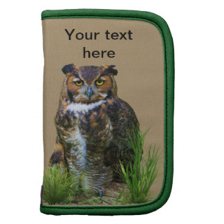 Great Horned Owl Customizable Organizers
