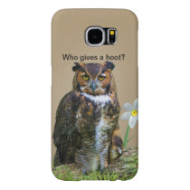 Great Horned Owl Customizable Samsung Galaxy S6 Case