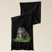 Great Horned Owl Customizable Scarf