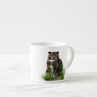 Great Horned Owl Customizable Espresso Mugs