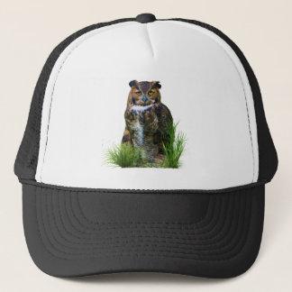 Great Horned Owl Customizable Trucker Hat
