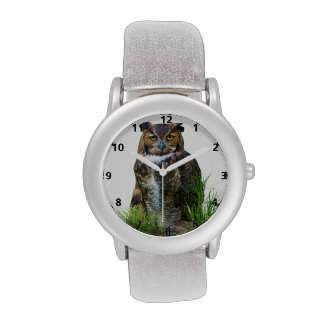 Great Horned Owl Customizable Wrist Watch