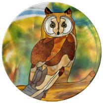 Great Horned Owl Dinner Plate
