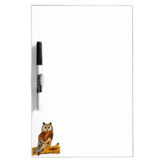Great Horned Owl Dry-Erase Whiteboards