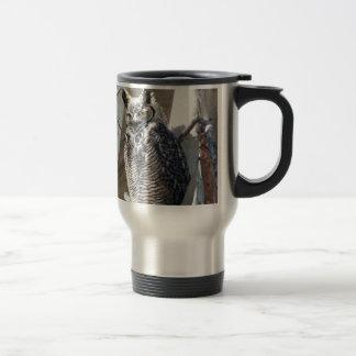 Great Horned Owl Fledgling Photo Design 15 Oz Stainless Steel Travel Mug