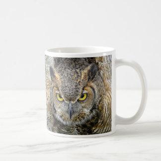 Great Horned Owl Following Eyes Coffee Mugs