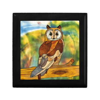 Great Horned Owl Trinket Boxes