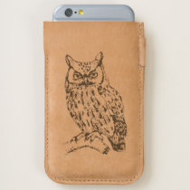 Great Horned Owl Handmade Leather iPhone 6/6S Case