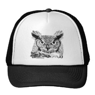 Great Horned Owl Mesh Hats