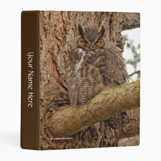 Great Horned Owl in the Douglas Fir Mini Binder
