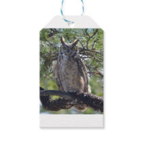 Great Horned Owl in the Tree Gift Tags