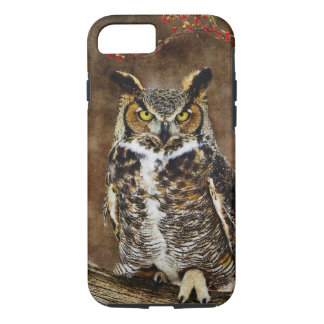 Great Horned Owl iPhone 8/7 Case