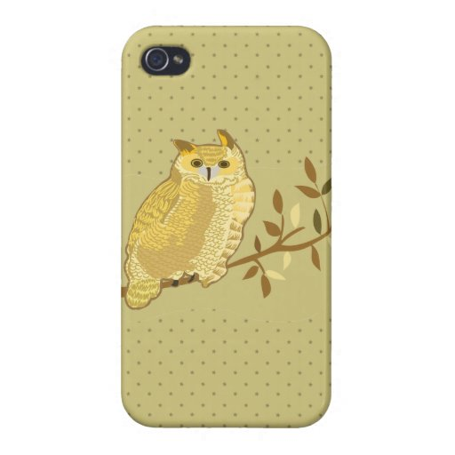 Great Horned Owl iPhone 4 Case