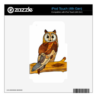Great Horned Owl iPod Touch 4G Skins