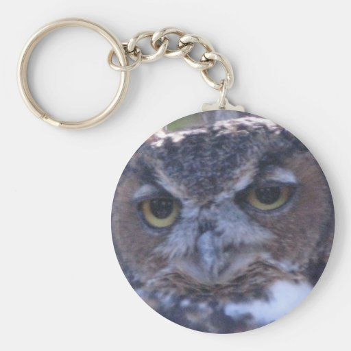 Great Horned Owl key chain