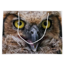 Great Horned Owl Large Gift Bag