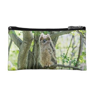 Great Horned Owl Makeup Bag