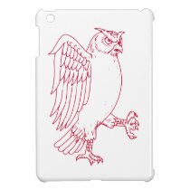 Great Horned Owl Marching Drawing iPad Mini Covers