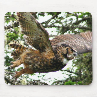 Great Horned Owl Mouse Pads