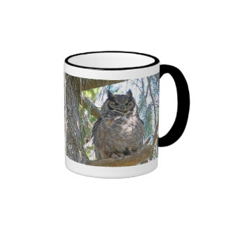 Great Horned Owl Coffee Mugs
