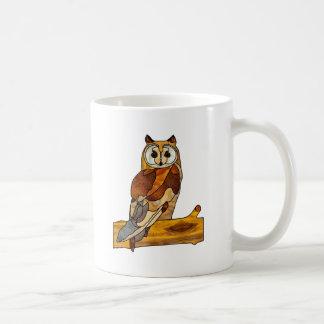 Great Horned Owl Classic White Coffee Mug