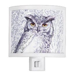 Great Horned Owl Night Light