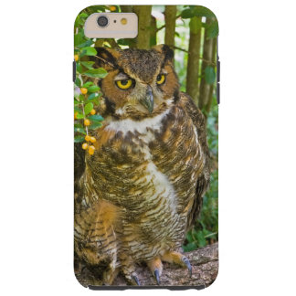 Great Horned Owl on a Log Tough iPhone 6 Plus Case