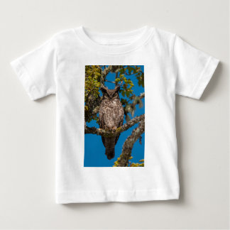Great Horned Owl perched on a Garry Oak Baby T-Shirt