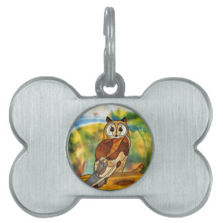 Great Horned Owl Pet ID Tag