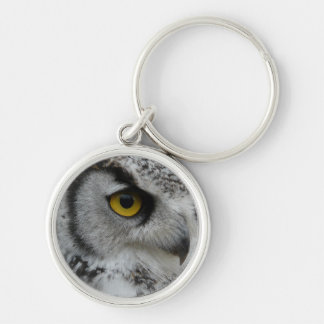 Great Horned Owl Photograph Keychain